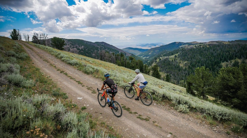 Dirt road riding above Helena.