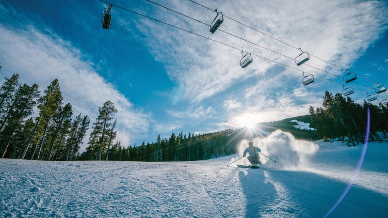 Red Lodge Mountain, one of 15 ski resorts in Montana, offers 65 trails.