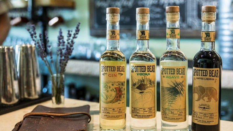 Spotted Bear Spirits near Whitefish distills gin, vodka, and more.