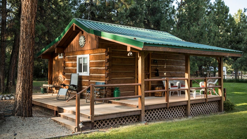 Sitting on ten acres, Time After Time B&B in Victor offers a new, rustic cabin plus three bedrooms in the main house.