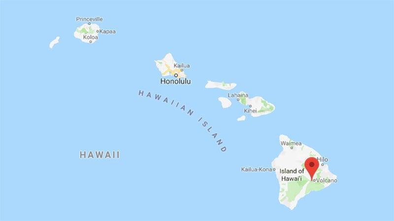 Kilauea is located on the eastern side of Hawaii.