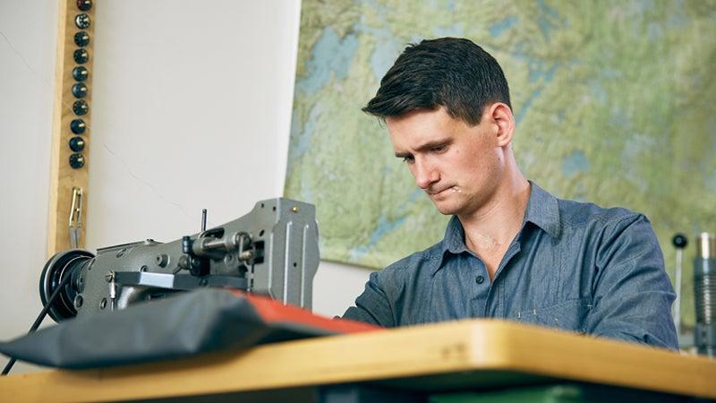 Chip Addington hard at work in his studio in Saint Paul, Minnesota.