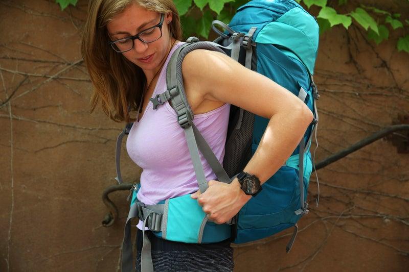 Pull the shoulder straps back toward your body when adjusting.