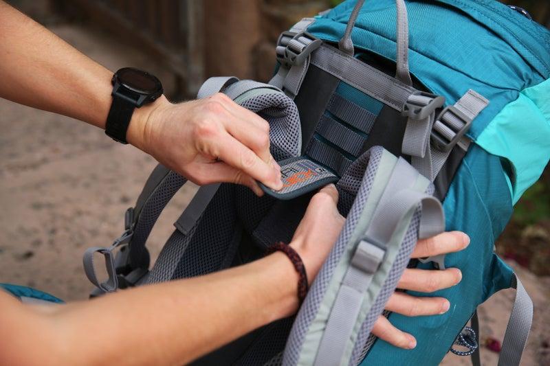 The torso adjustment found on a Deuter backpack.