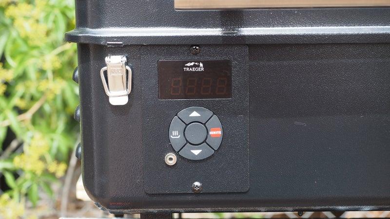 The digital display makes adjusting grill temperature a breeze.