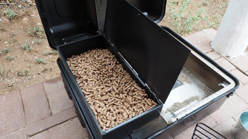 The Ranger's hopper holds eight pounds of wood pellets.