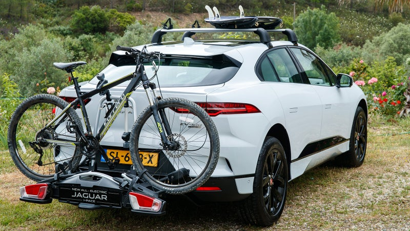 The I-Pace is available with all manner of racks and mounts for your toys.