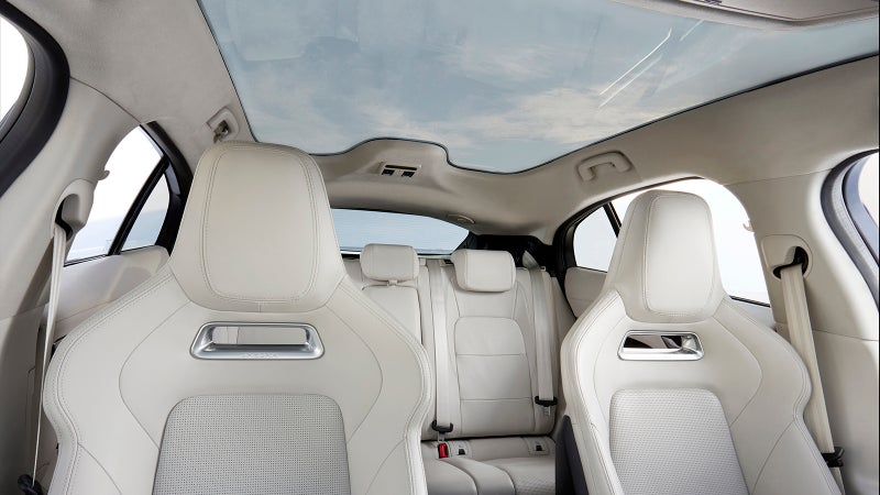 The interior is already huge, but the full-length glass roof makes it feel even more spacious.