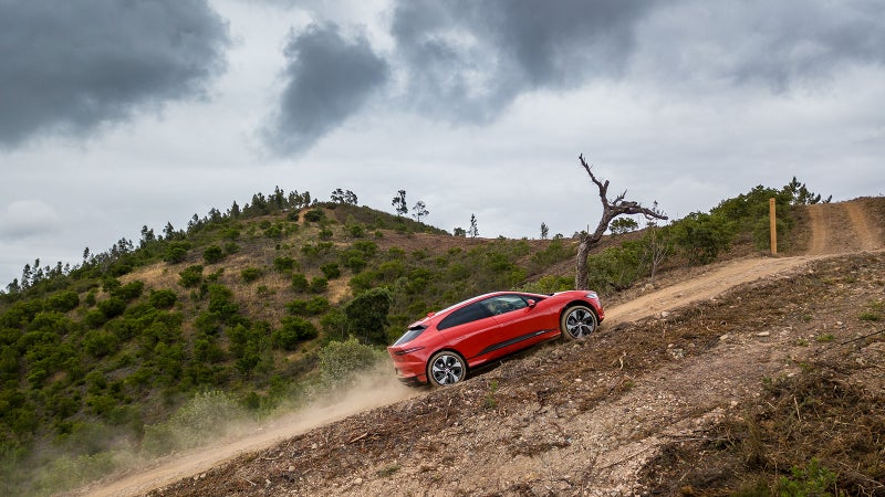 All-Terrain Progress Control works like cruise control off-road and takes the guesswork out of getting the I-Pace up, down, or through obstacles.