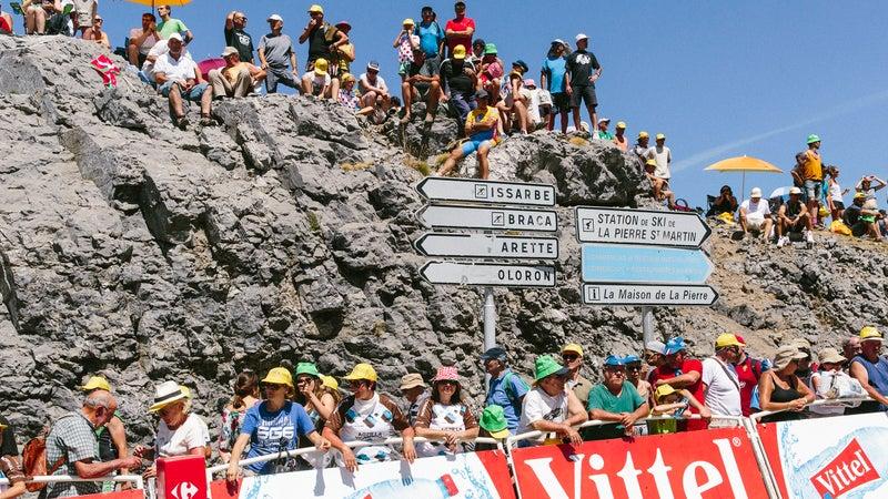 Course-side seats at the Tour de France.