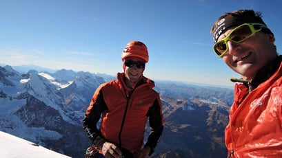 Jornet with the late Ueli Steck