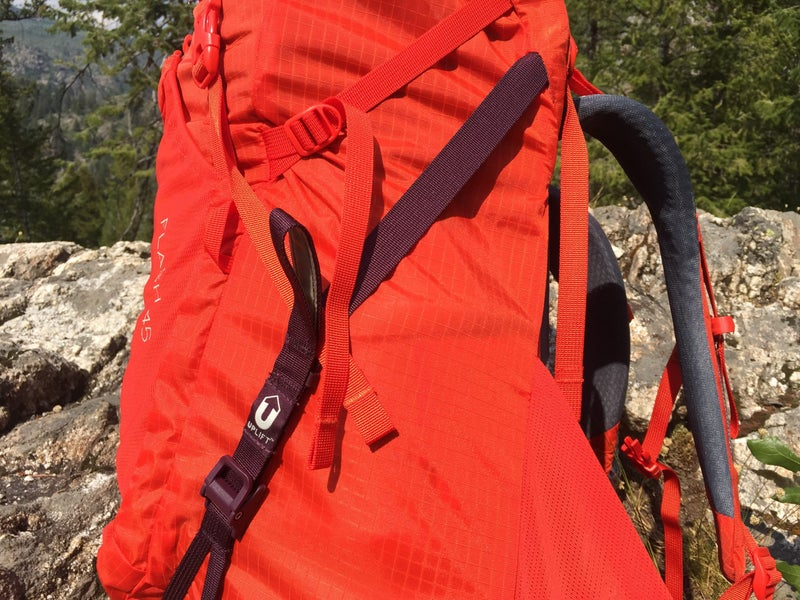 REI's Uplift straps on the Flash 45 pack.