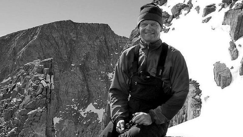 Pete Absolon on a ski day at the Leg Lake Cirque, 2006
