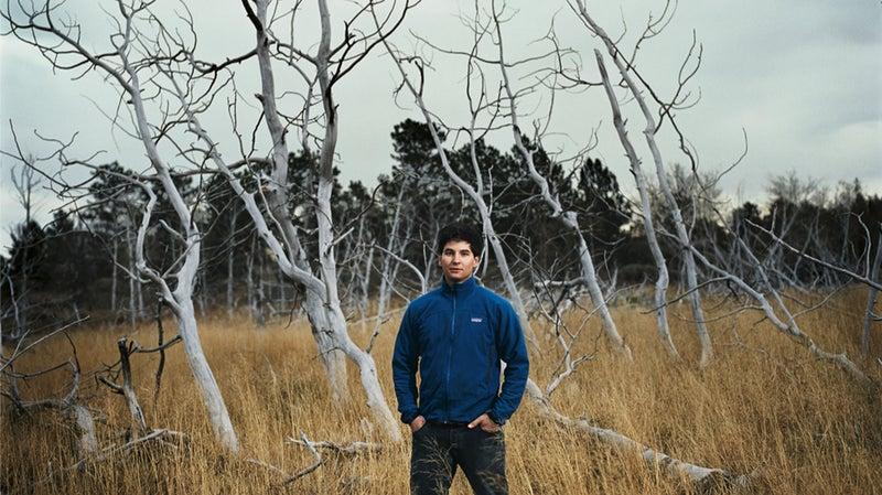 Steve Herlily, outside Laramie
