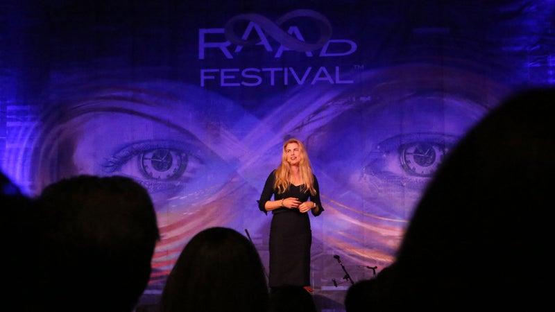 Parrish speaking at RAADfest 2017