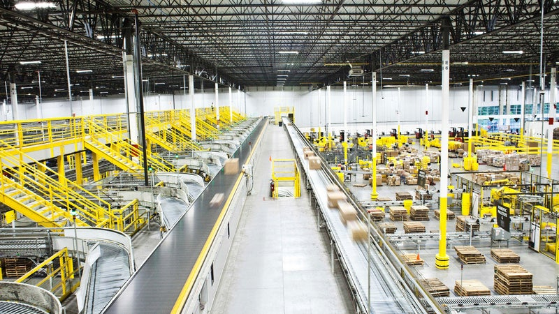 An Amazon warehouse in Florence, New Jersey