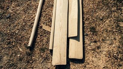 Handmade ash oars