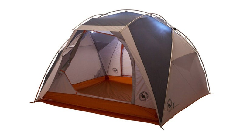 Gray Tent with Built-In Lighting