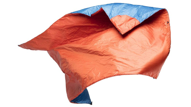Blue and Orange Camping Blanket from Klymit