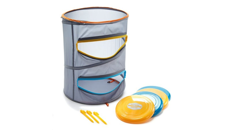 Mesh Barrel with Frisbees