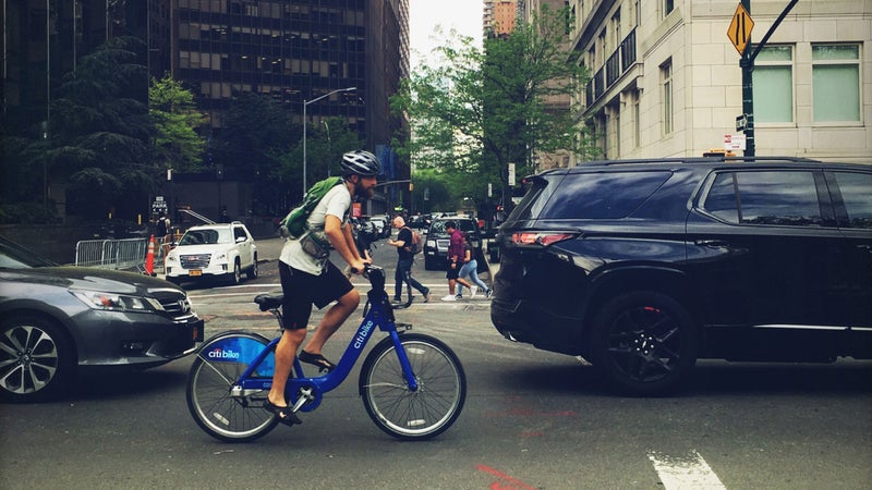 Miller has biked more than 12,000 miles - all within New York City limits.