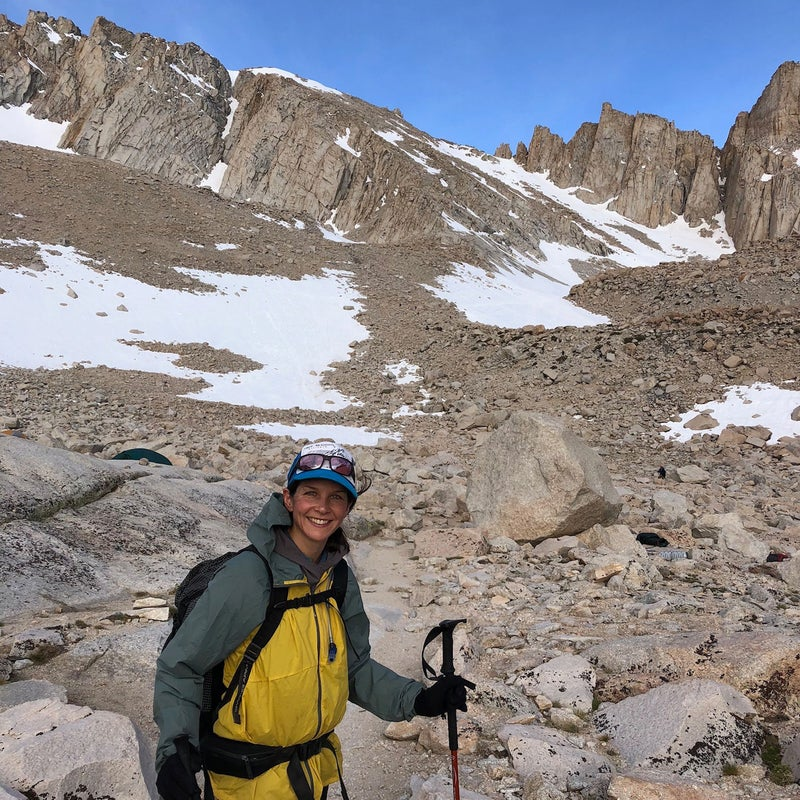 The author approaching the Chute section of Mount Whitney.