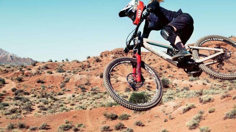 Casey Brown jumping bike in desert landscape