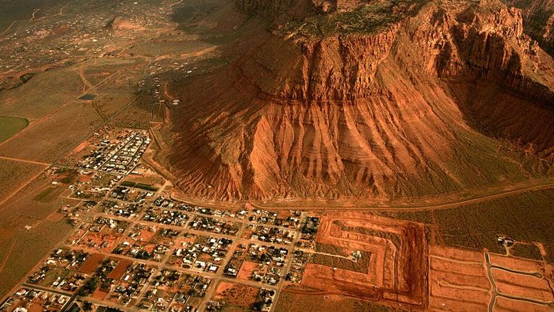 Aerial view of St. George, Utah