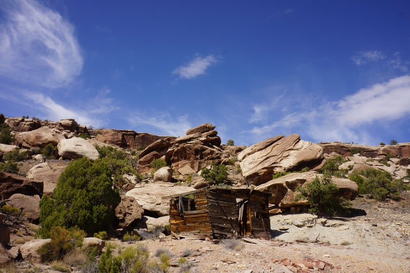 An abandoned cabin in southern Utah.