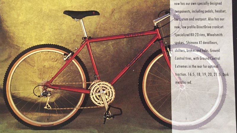 The 1992 Stumpjumper Comp, straight from the Specialized catalog.