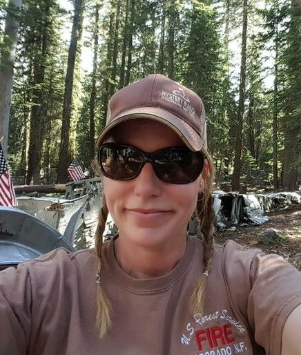 Denice Rice on the job in the Eldorado National Forest, in California.