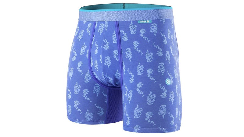 Blue designed boxers