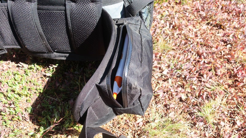 The hipbelt pockets are perfectly sized (they store what they need to while remaining low-profile), but the zipper orientation should be reversed so that small things don't fall out if the pocket is not completely closed.