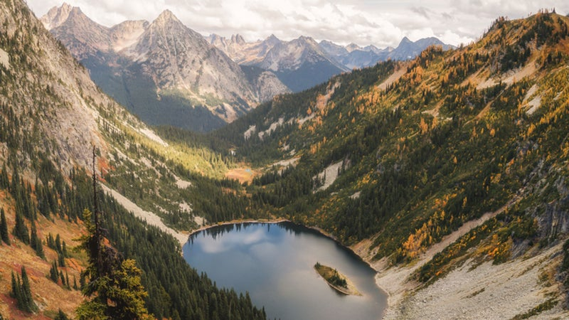 The North Cascades, in Washington, are one of seven brilliant spots we've picked for ideal fall backpacking.
