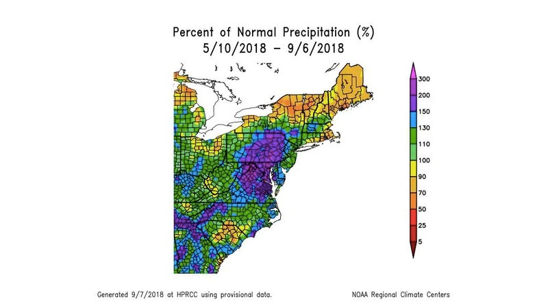 The region is already inundated with ground water, following heavy rainfall this summer.