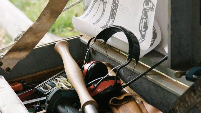 Timber framer Matt Lewis's toolbox.