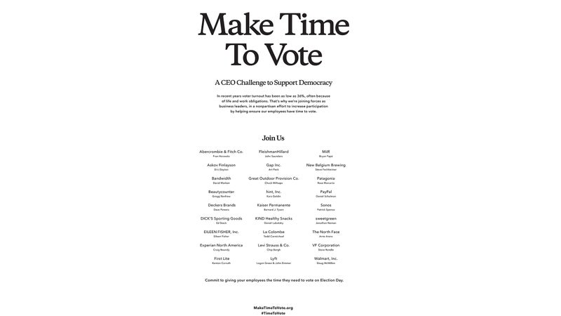 The campaign is running this full-page ad in The New York Times.