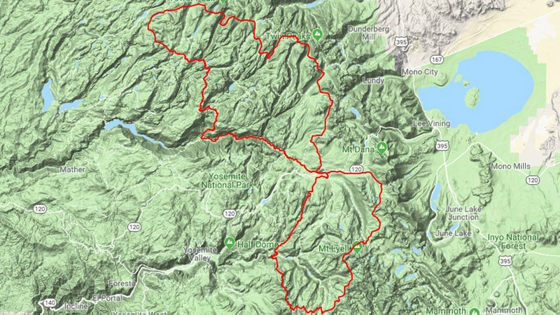 By starting and finishing at Tuolumne Meadows, you can undertake the Yosemite High Route as a north loop, south loop, or figure eight with a resupply in the middle.