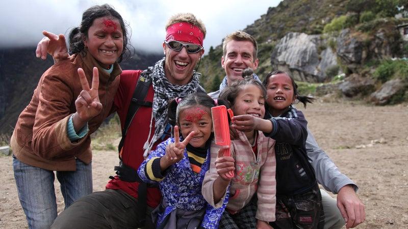 Sidles in Nepal in 2010.