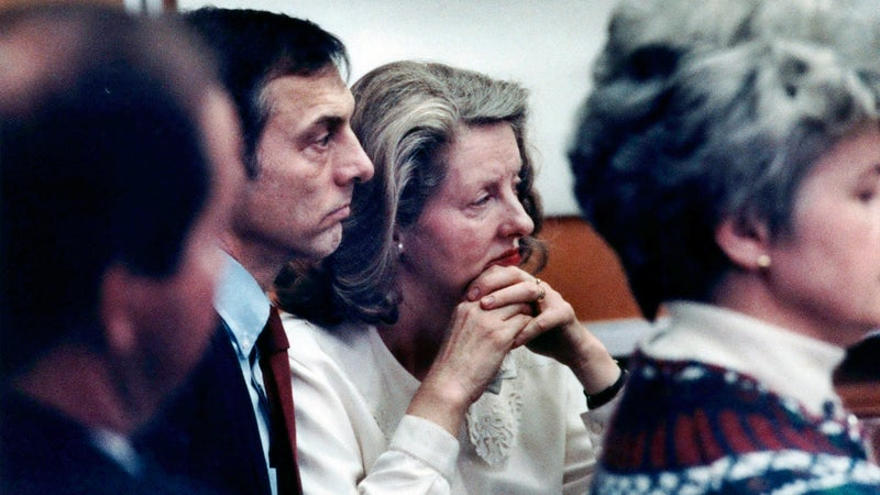 Richard and Judith Haeder in court in 1990