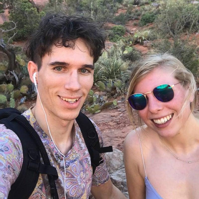 Bartz and Bonkowski hiking in Sedona, Arizona in 2017