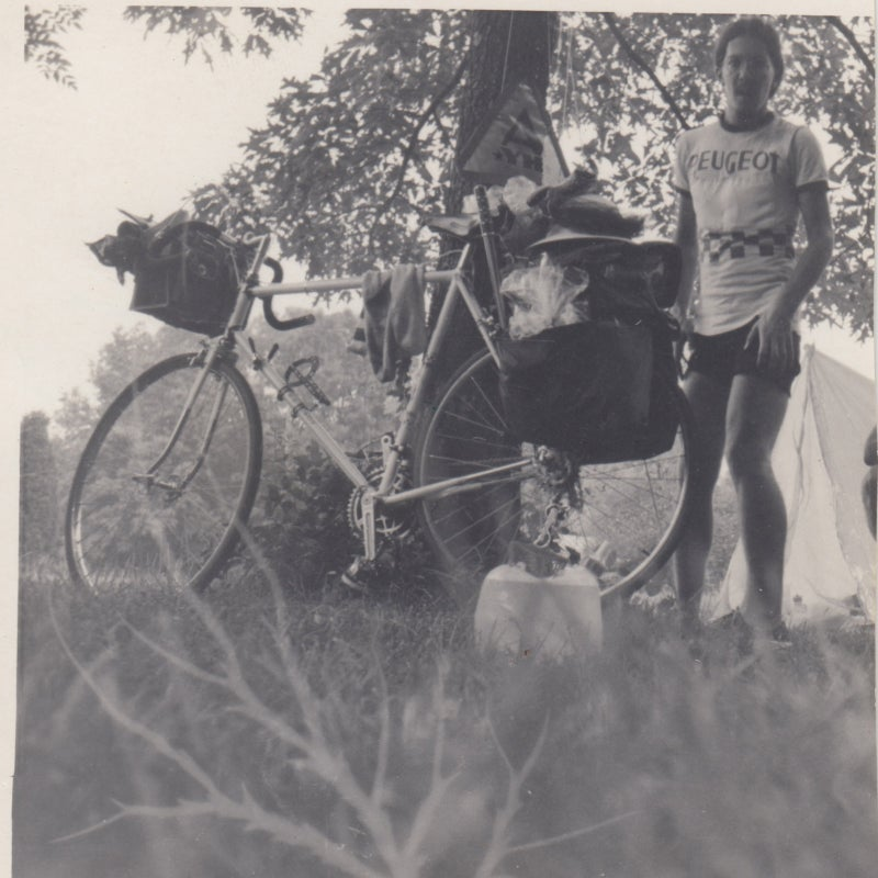 Polson in 1970, about the time he rode from Hartsville, South Carolina to Kent, Ohio.