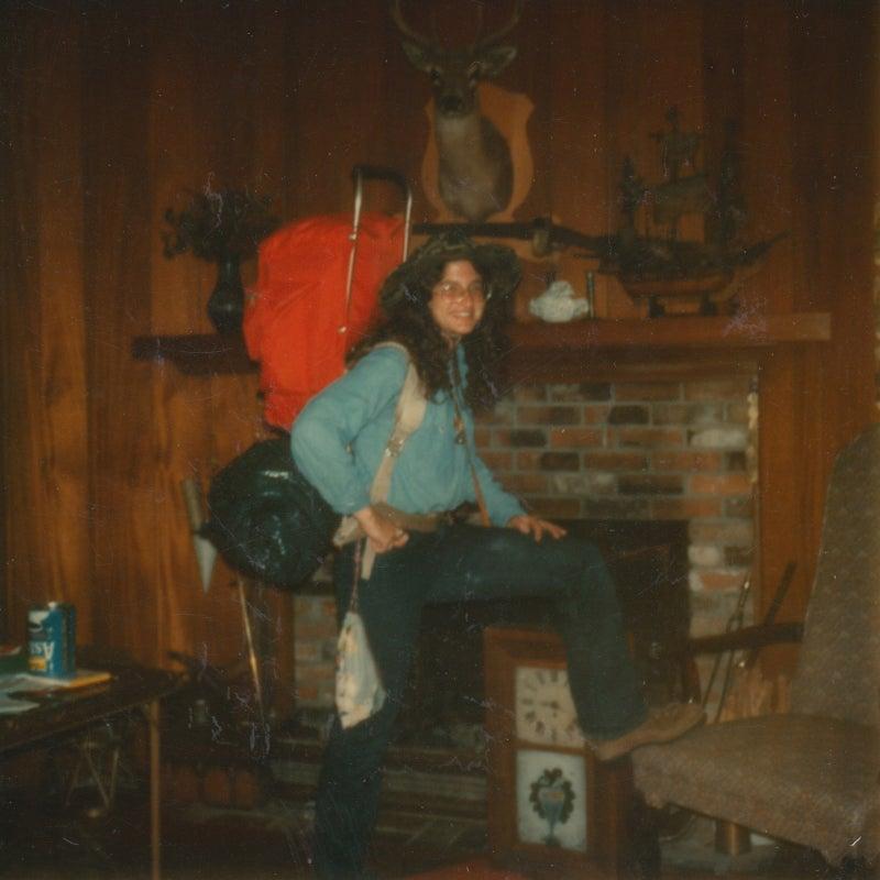 Harritt at home before the hike, spring 1974.