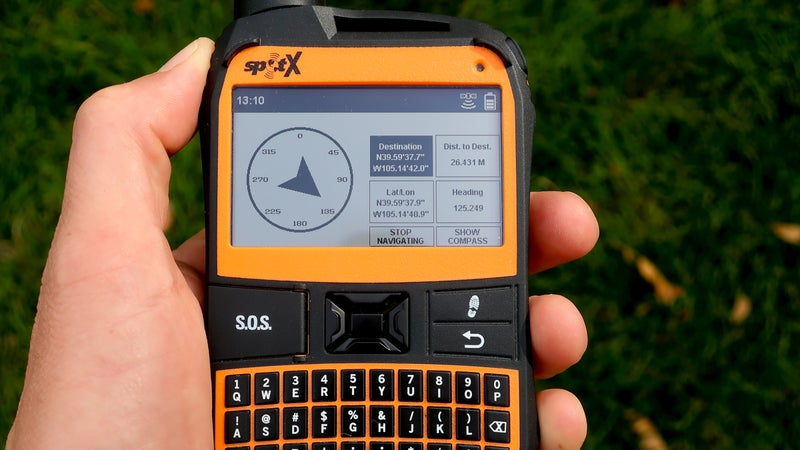 The Spot X has rudimentary navigation capabilities. It has a digital compass and allows you to create and go to waypoints.