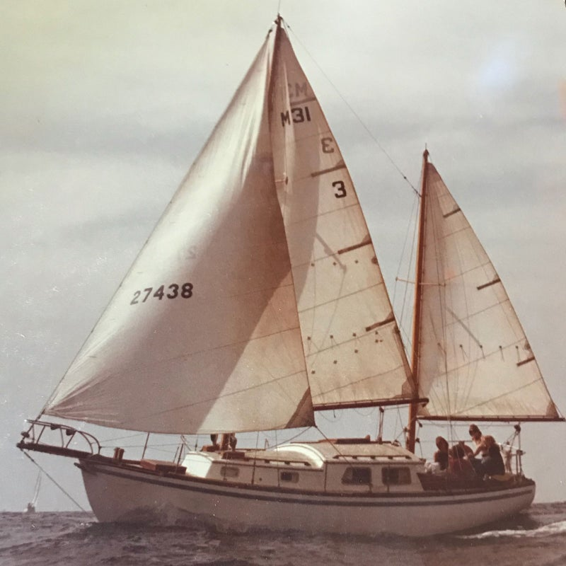 Cortez, one of Carr's sailboats.