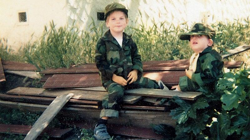 Noah with Josiah in 1984