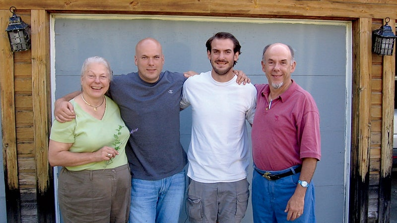 Noah, second from left, with his parents and brother Josiah just before he disappeared