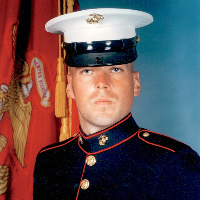 Pippin as a Marine in 2003