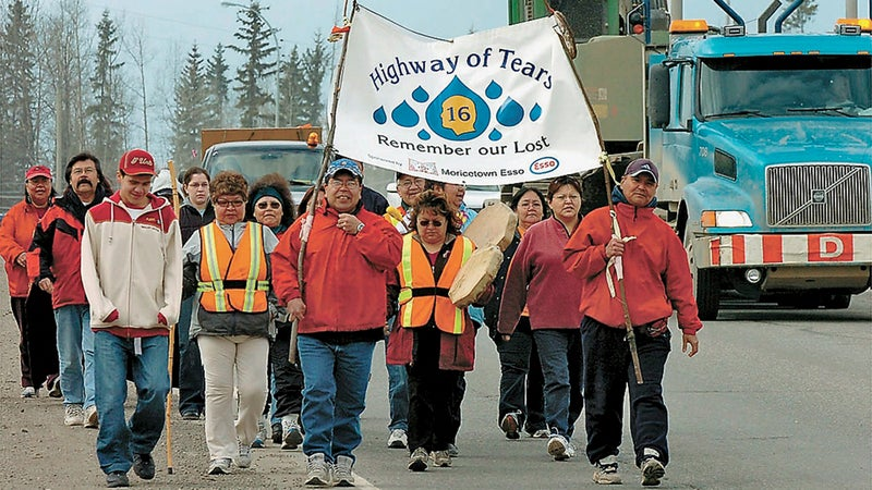 A Highway of Tears walk for justice