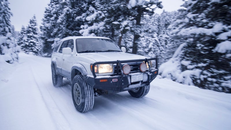 """I'm building this old 4Runner into a dedicated winter vehicle. I plan to show you how to do the same with an article called, """"How To Build The Ultimate Winter Vehicle for $10,000,"""" but have been so impressed with these tires, I wanted to go ahead and tell you about them in a dedicated piece."""